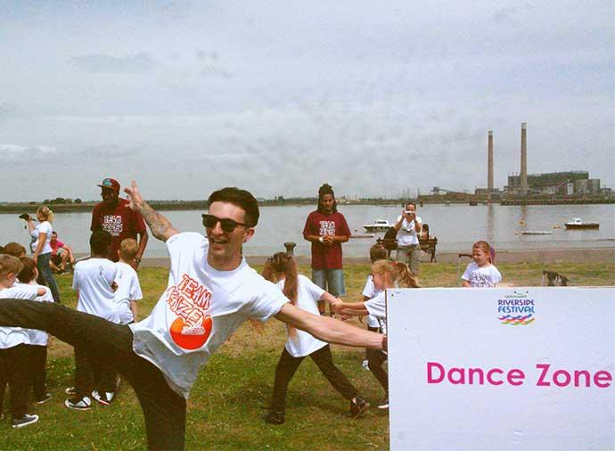 Riverside Festival's Dance Zone
