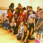 Summer street dance workshop students in the studio