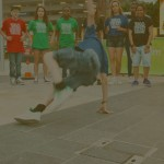 Street dancer showing foundations
