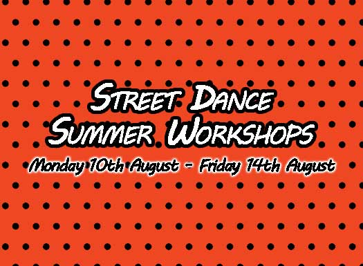 Info for summer street dance workshops taking place in Kent.